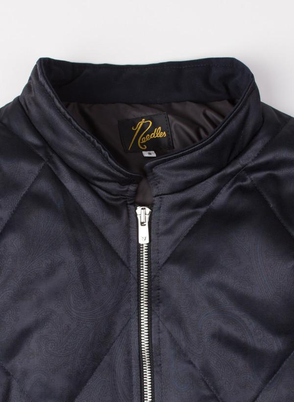 Men's Needles Mao Collar Down Jacket Paisley Charcoal
