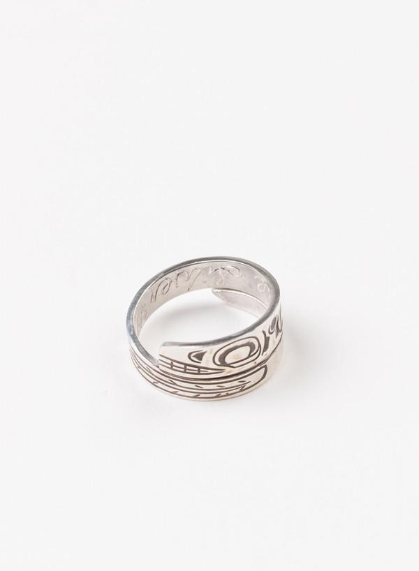 Men's MAPLE Orca Wrap Ring Silver 925