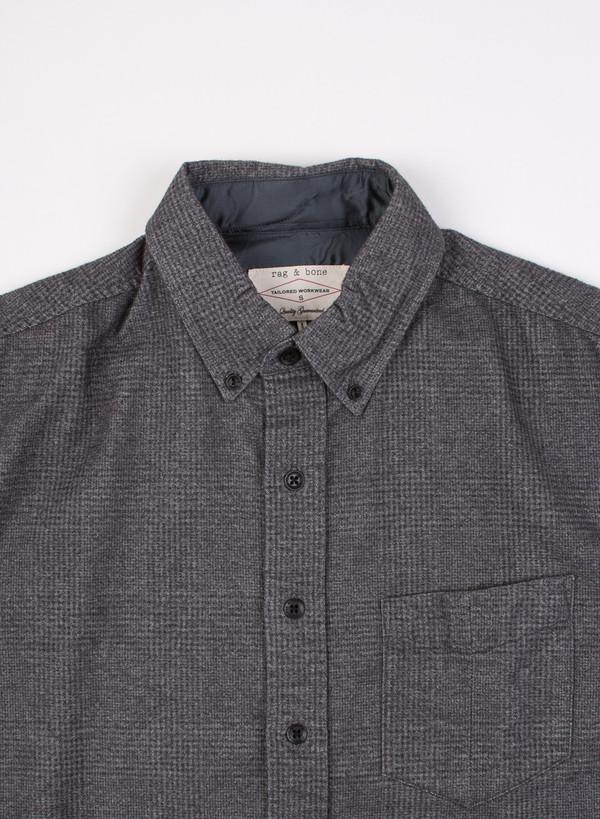 Men's Rag & Bone Pocket Button Down Oxford Charcoal
