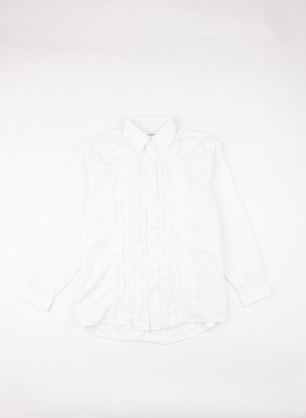 Men's Needles Ribbon Shirt White