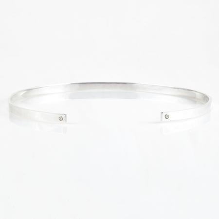 Tara 4779 Reflection Choker - Silver