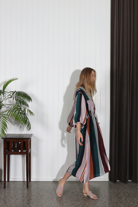 Apiece Apart Kimono Shirt Dress - Alhambra