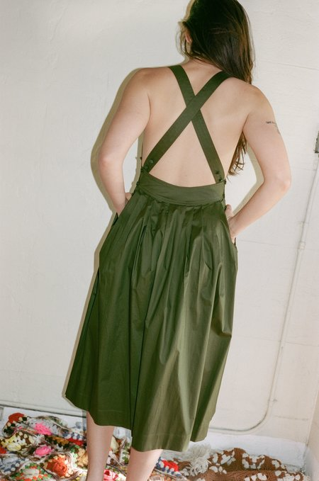 Electric Feathers Traveling Pinafore - Olive