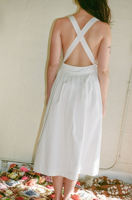 Electric Feathers Traveling Pinafore - White