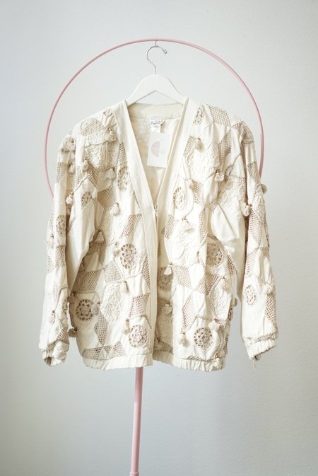 Vintage Backtalk PDX Silk and Lace Coat