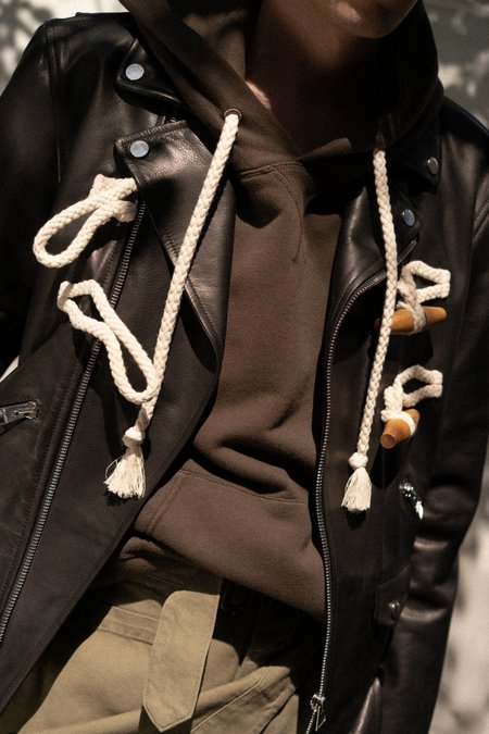 JW ANDERSON Biker Jacket with Toggle Detail
