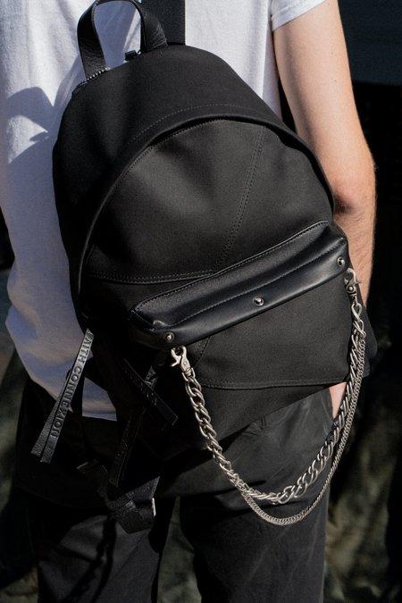 Faith Connexion Chain Canvas Backpack - Black