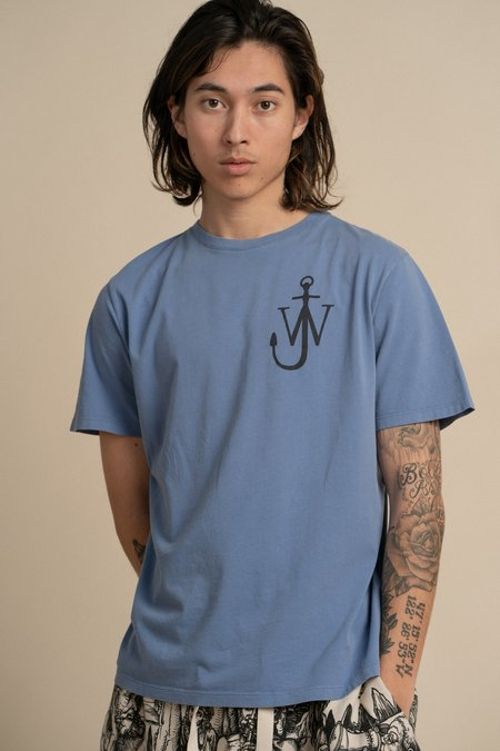 JW ANDERSON Anchor Print T-Shirt - Washed Indigo