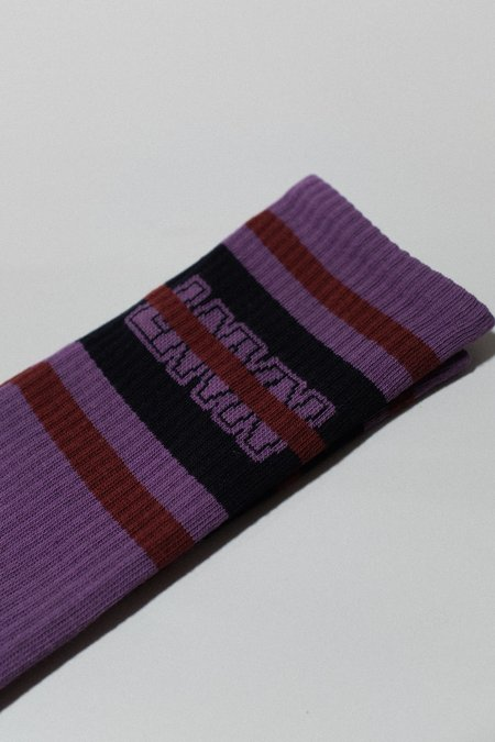 Lanvin Jacquard High Socks - Purple Patterns