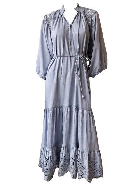 Apiece Apart Granada Eyelet Maxi Dress - Periwinkle