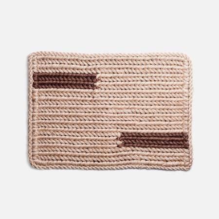 Someware Knotted Doormat - Walnut Bar