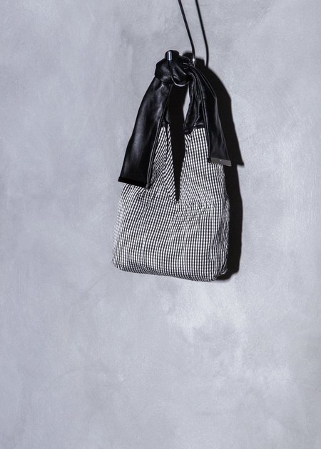 XENAB LONE QUILTED GINGHAM MINI KNOT BAG