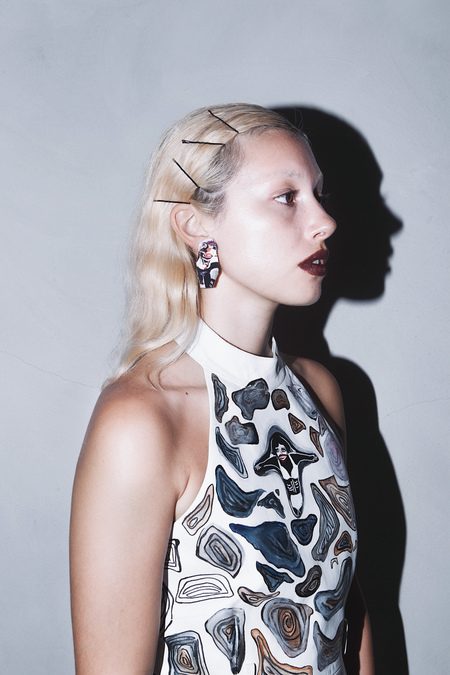CLAIRE BARROW 'SEXY' PEOPLE EARRINGS #2