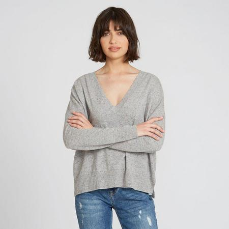 Autumn Cashmere Relaxed V - Grey