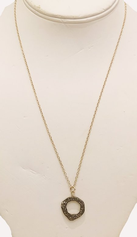 Bridget King Diamond Irregular Drop Necklace - Yellow Gold