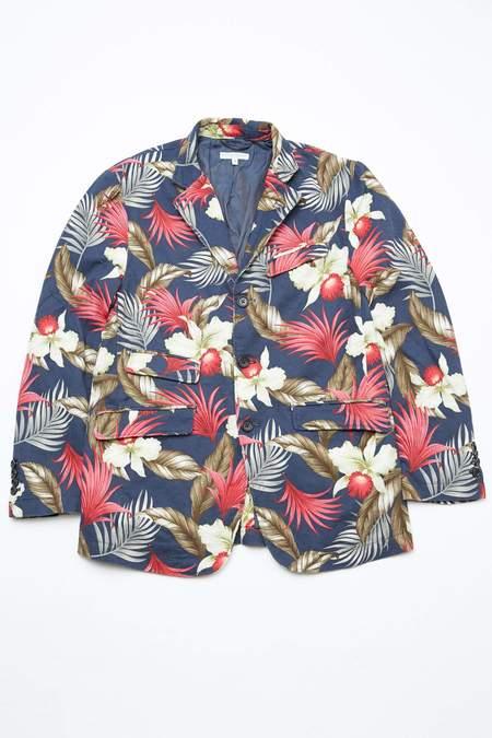 Engineered Garments Andover Java Cloth Jacket - Navy/Hawaiian Floral