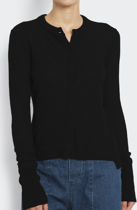 Inhabit 100% Cashmere Everyday Cardi - Black