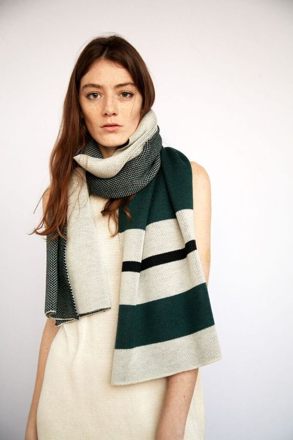 Kordal Victoria Scarf - Forest Green