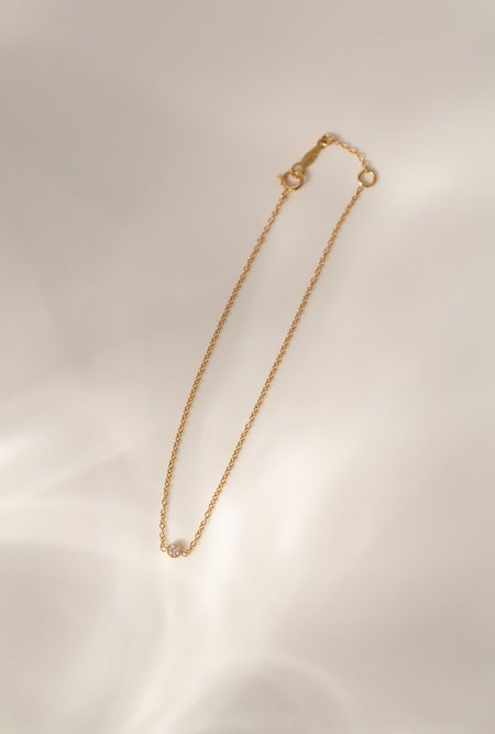 Lumo White Diamond Bracelet - 14k yellow gold