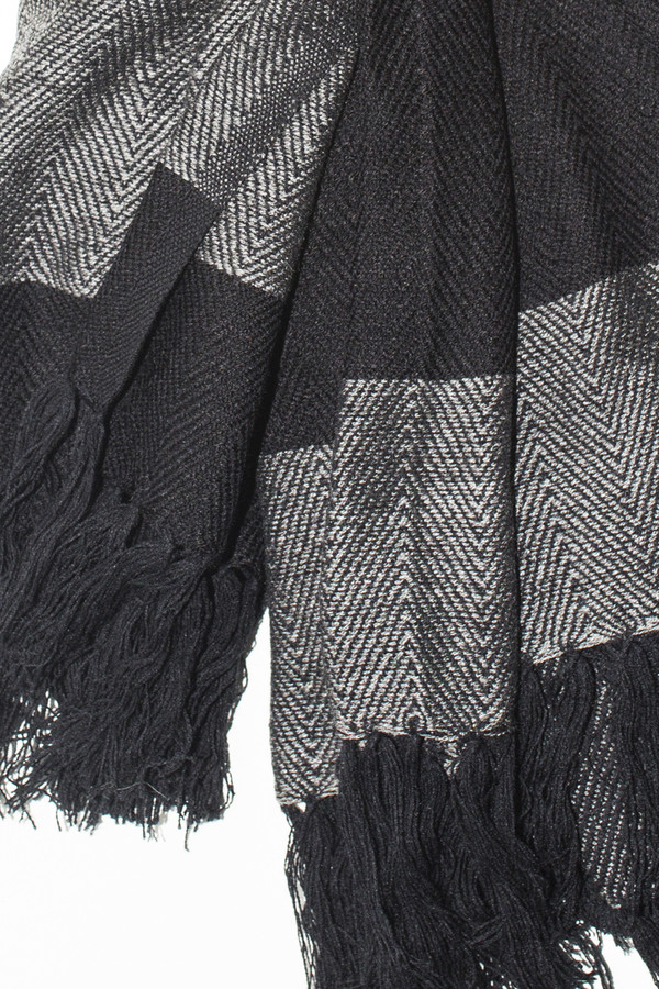 Men's Chamula Acrylic Stripe Scarf - Navy/Grey
