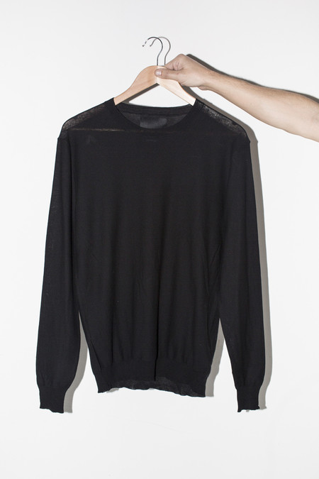 Men's Assembly Black Antwerp Cotton Pullover