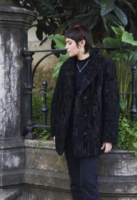 Bird On A Wire Vintage Calf Wool Coat - Black