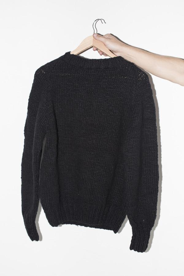 Men's Chamula Wool Crewneck Pullover - Black