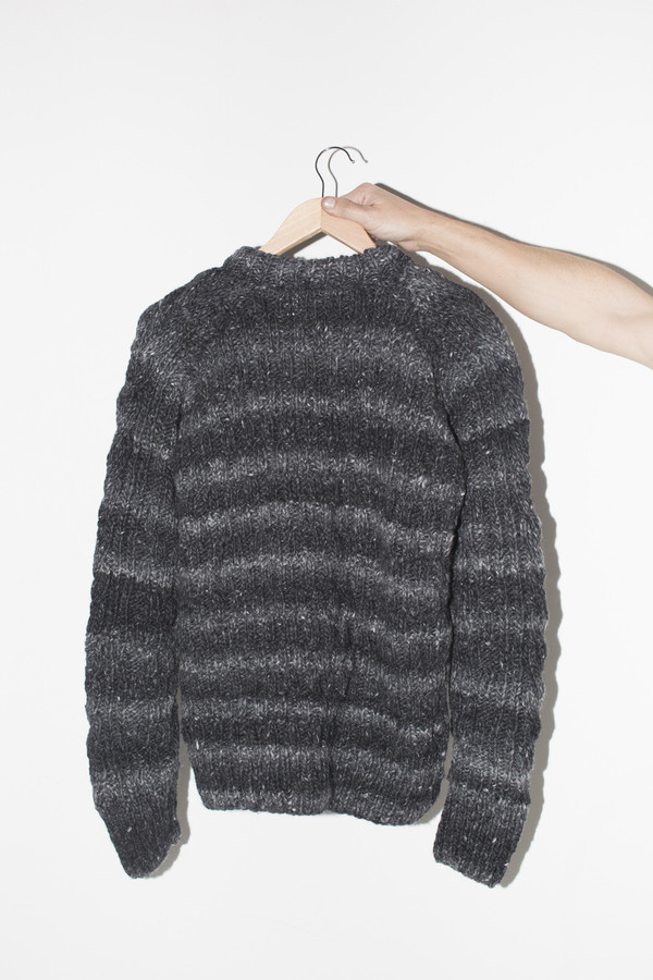 Men's Chamula Wool Fisherman Pullover - Grey Heather