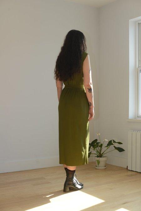 Vincetta Gallerie Ribbed Knit Dress - Moss