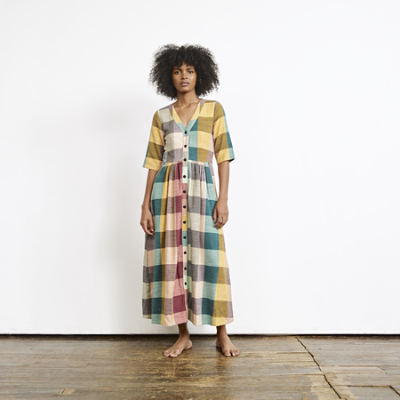Ace & Jig Leelee Dress in Sandstone