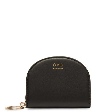 OAD Calf Dia Mini Mirror Wallet - True Black