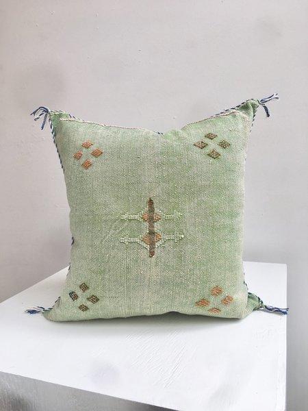Cuttalossa Cactus Silk Pillow - Green