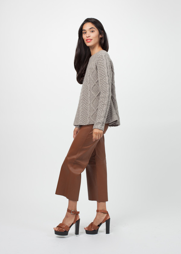 Cable A-Line Sweater