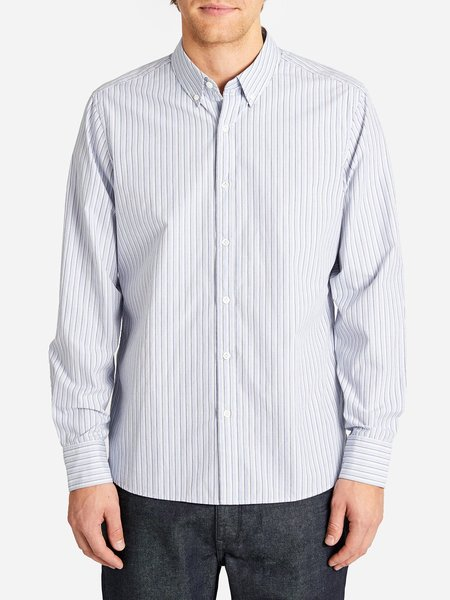 ONS Bastion Button Down - Blue Stripe