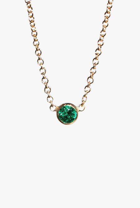 Lumo 16in Emerald Necklace - 14k gold