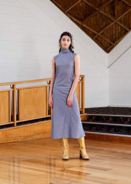 Penny Sage Roque dress - slate stripe