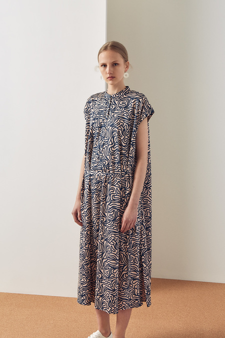 Kowtow Wandering Dress in Maze