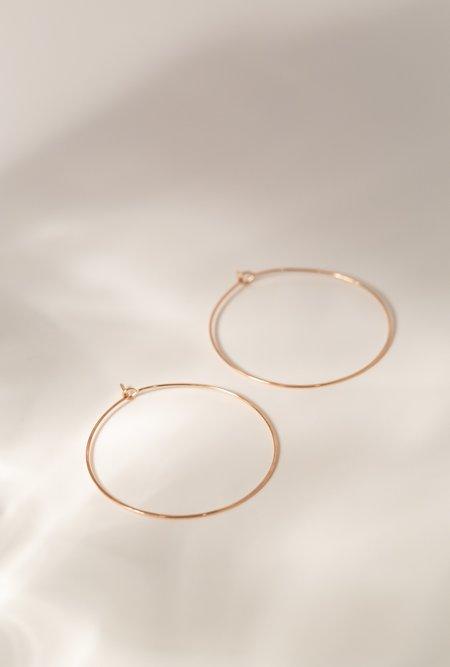 Circadian Studios Medium Floating Hoop Earrings