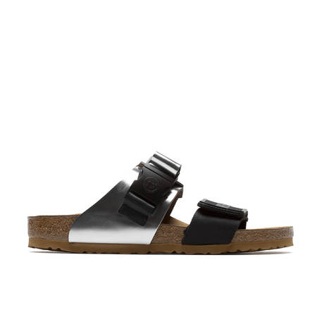 Rick Owens Rotterdam Combo Sandals - Black/Silver