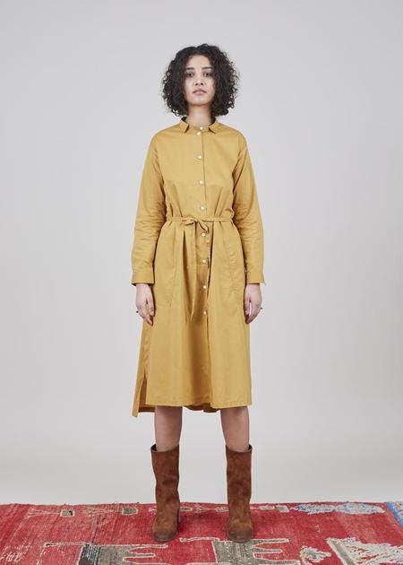 Yoshi Kondo Dris Belted Dress - Mustard