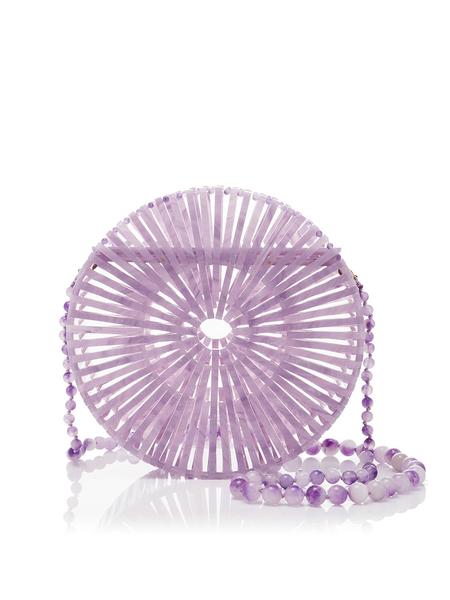 CULT GAIA Acrylic Luna Crossbody Bag - Lavender
