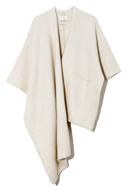 Lauren Manoogian Wrap Poncho - White