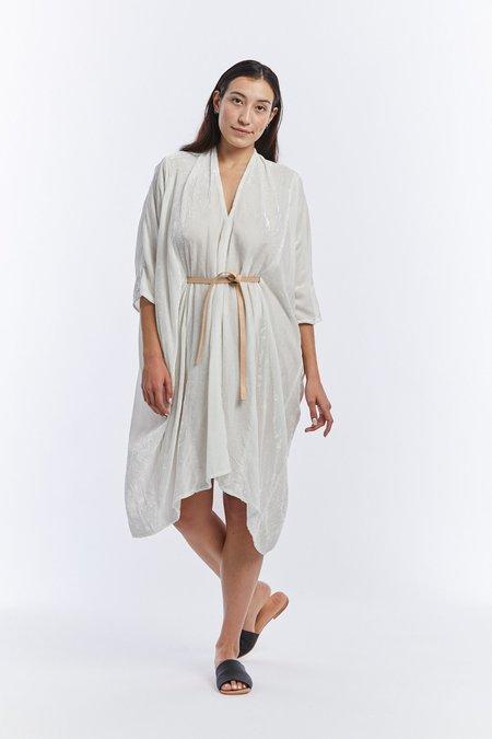Miranda Bennett Velvet O'Keeffe Dress - White