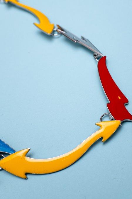 Marni Metal Enamel Arrows Necklace