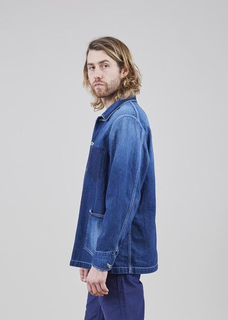 Sage de Cret Japanese Denim Jacket - Washed Indigo