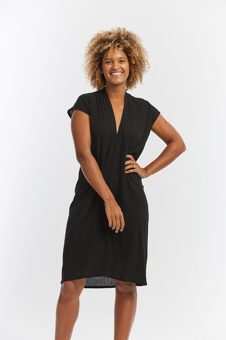 Miranda Bennett Cotton Gauze Everyday Dress - Black