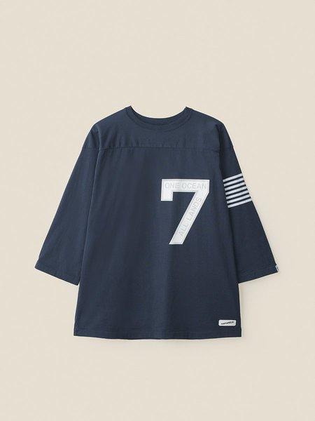 Nanamica Football Tee - Navy