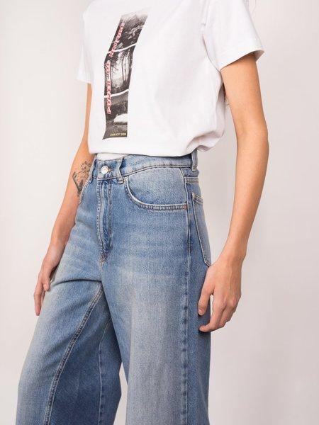 Ganni Classic Denim Wide Pants - Bleached Denim