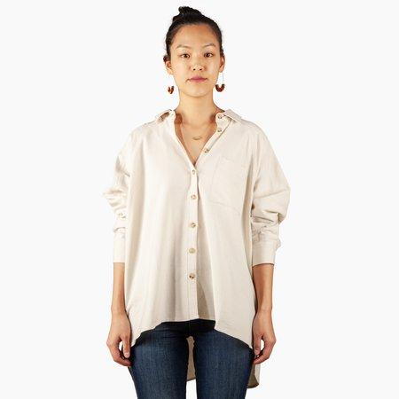 Orimono Button Down Shirt - Ecru