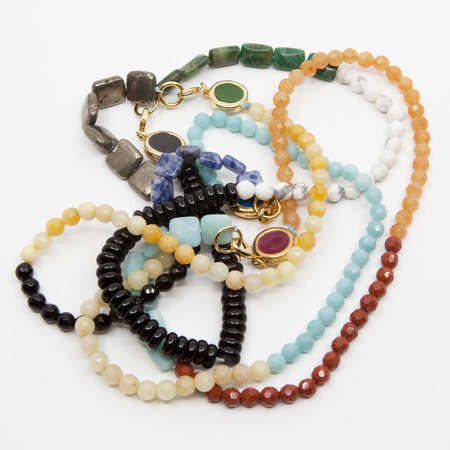 A. Carnevale Beaded Necklace - Blue